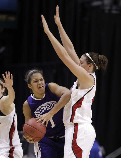 Morgan Jones struggled in her one season at Northwestern.  Michael Conroy — ASSOCIATED PRESS