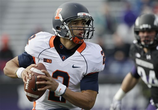 Illinois QB Nathan Scheelhaase (AP Photo/Nam Y. Huh)