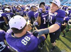 Brian Arnfelt (91) and Quentin Williams (88) are just two of the many seniors Northwestern lost heading into the 2013 season. Photo Credit: Bob Self, The Florida Times-Union