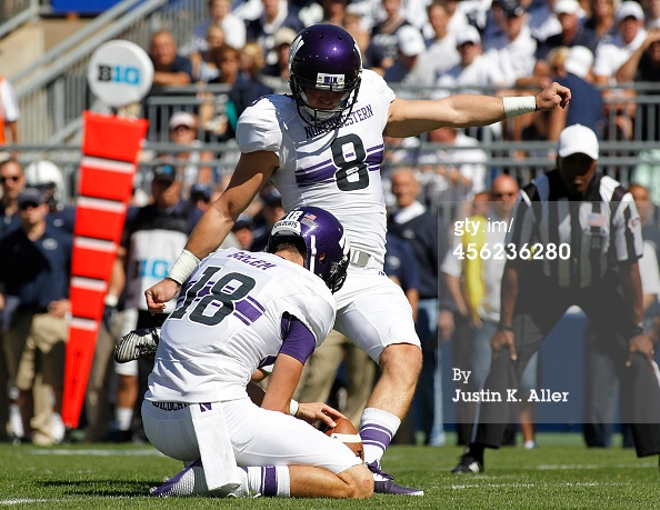 Jack Mitchell and the Wildcats make their first  appearance in South Bend since 1995 on Saturday.Photo Credit: Justin K. Aller, Getty Images.