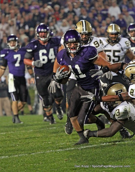 Last time Northwestern met Purdue, Jeremy Ebert was still a Wildcat.  Photo credit: Dan Kopp, sportspagemagazine.com.