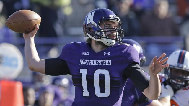Zack Oliver's first career start resulted in five turnovers and a season-ending loss to Illinois. Photo credit: Nam Y. Huh/AP