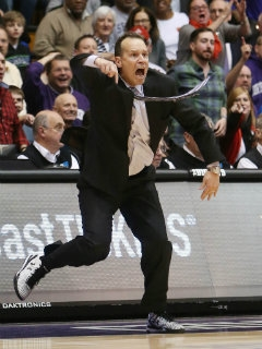 Chris Collins went nuts after a missed goaltending call, and fans went nuts when the Wildcats blew a double-digit lead late against Maryland. Photo credit: USA Today Sports.
