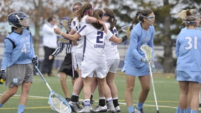 Last year at Lakeside Field, the Wildcats upset top-ranked North Carolina. Can the number-six Wildcats take down the number-two Tar Heels Saturday in Chapel Hill? Photo credit: Northwestern Athletics.
