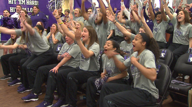 The Wildcats went crazy when they found out their first-round opponent in the NCAA tournament: Arkansas. Northwestern takes on the Razorbacks at 11 AM today from Waco, Texas.