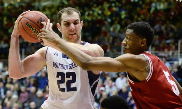 Greg Mroz says Alex Olah needs to assert his will down low in tonight's Big Ten tourney matchup with Indiana. Listen to WNUR's live broadcast now. Photo credit: Chris Howell, Herald-Times.