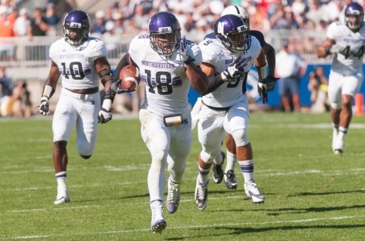 Anthony Walker returns an interception against Penn State.