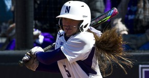 Sabrina Rabin had quite the week, going 10-for-13 at the plate en route to earning Big Ten Player and Freshman of the Week honors. Photo credit: Northwestern Athletics.