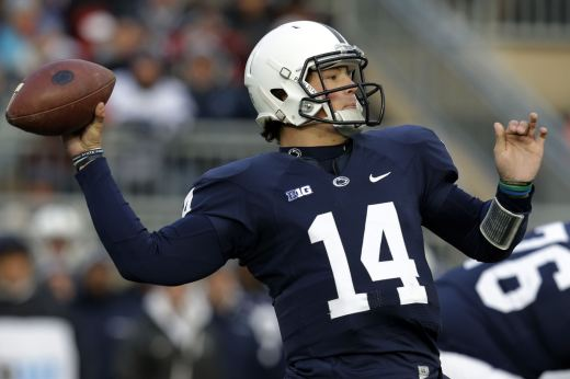 Christian Hackenberg might be the best Penn State quarterback ever, and he leads the Lions against Northwestern Saturday. Photo Credit: NFL Draft Diamonds