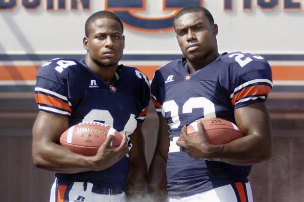 Ronnie Brown, Cadillac Williams, and Auburn check in at number five on our list of the top running back-producing universities.