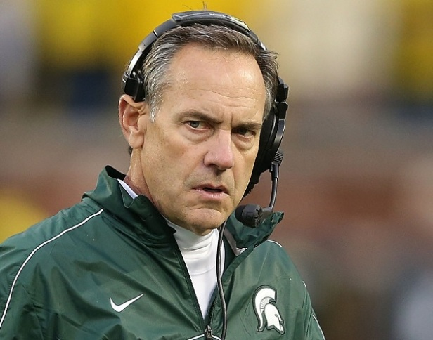 Mark Dantonio leads a Spartan team poised to take down the defending National Champion Ohio State Buckeyes. Photo Credit: Leon Halip/Getty Images