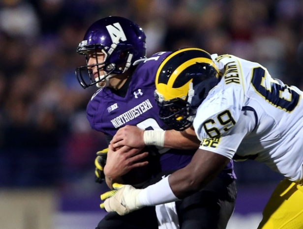 Trevor Seimian went down on the two-point conversion last year. Will the Wolverines go down to the Wildcats this year?
