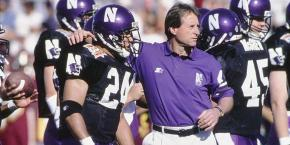1998 was Gary Barnett's final season as Northwestern football's head coach. Photo Credit: Northwestern Athletics