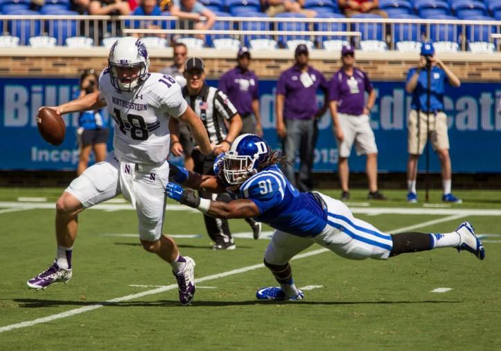 NCAA FOOTBALL: SEP 19 Northwestern at Duke