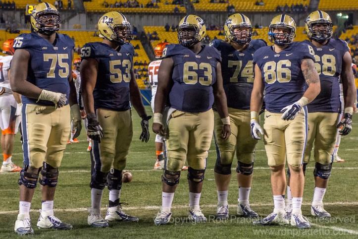 Pitt offensive line